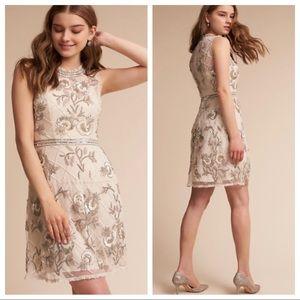 BHLDN Mariposa Beaded Sequin Mesh Dress, SIZE 10